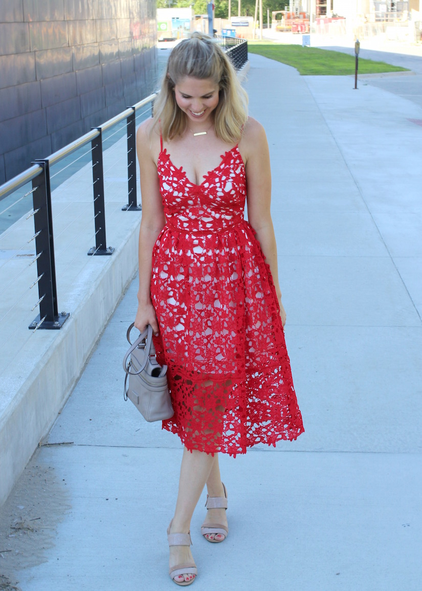 The Kissing Booth Blog - Red Lace dress