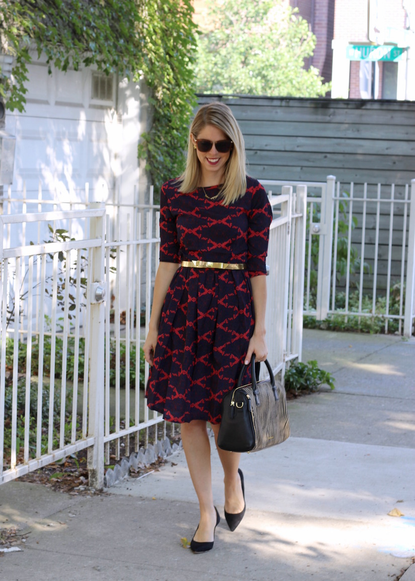 The Kissing Booth Blog - Fall pattern a-line dress