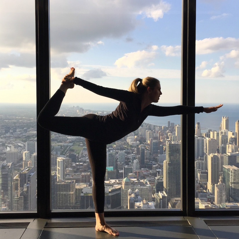 Dancers Pose on the 99th Floor of the Willis Tower, Chicago